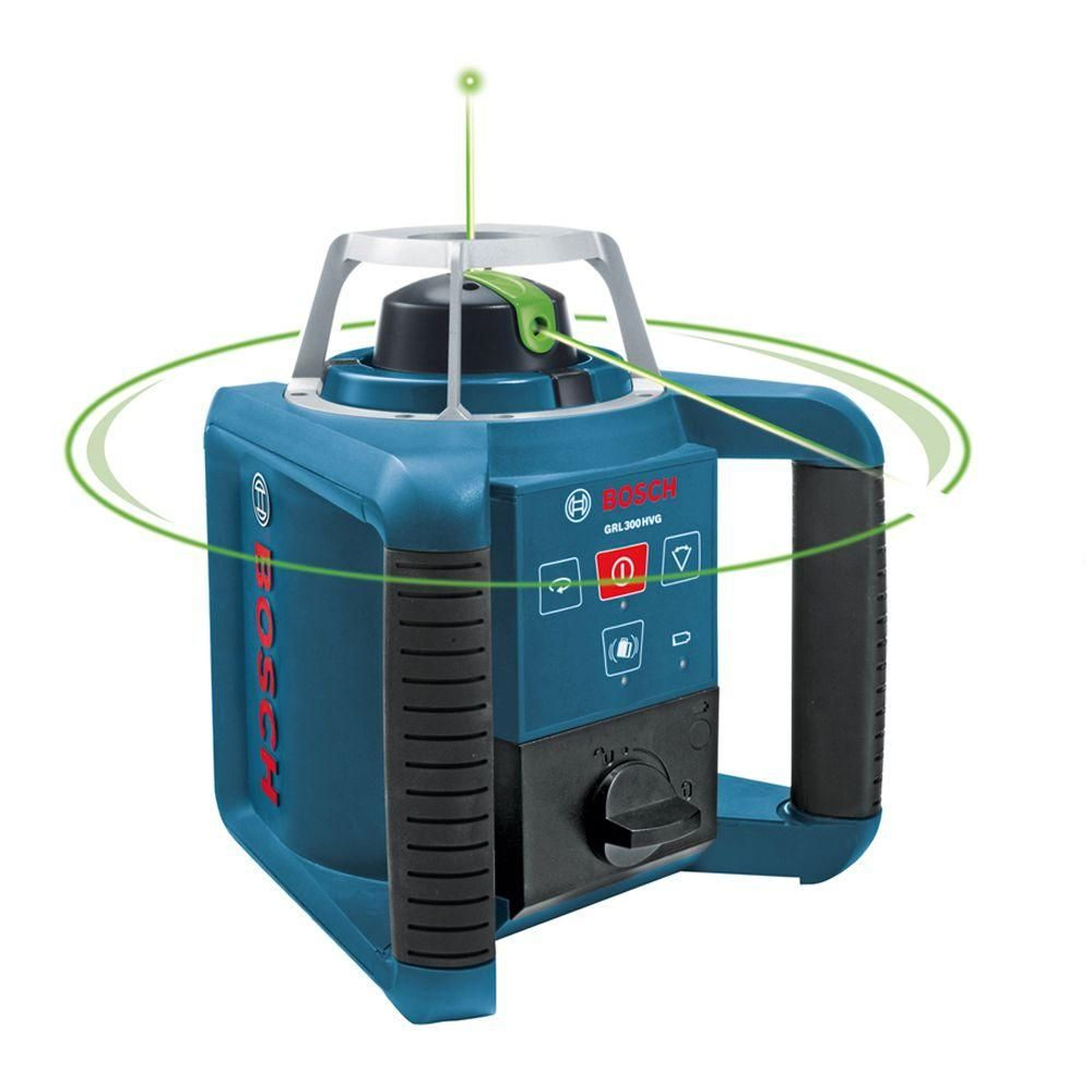 Bosch 1000 Ft Self Leveling Green Beam Rotating Laser Level Kit 5 Piece Laser Levels Green Laser Bosch
