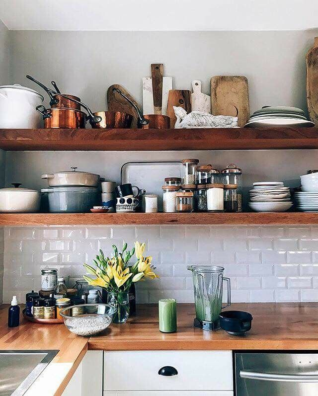 pin by lisa mcnabb on kitchen kitchen projects floating shelves storage spaces on kitchen floating shelves id=63230