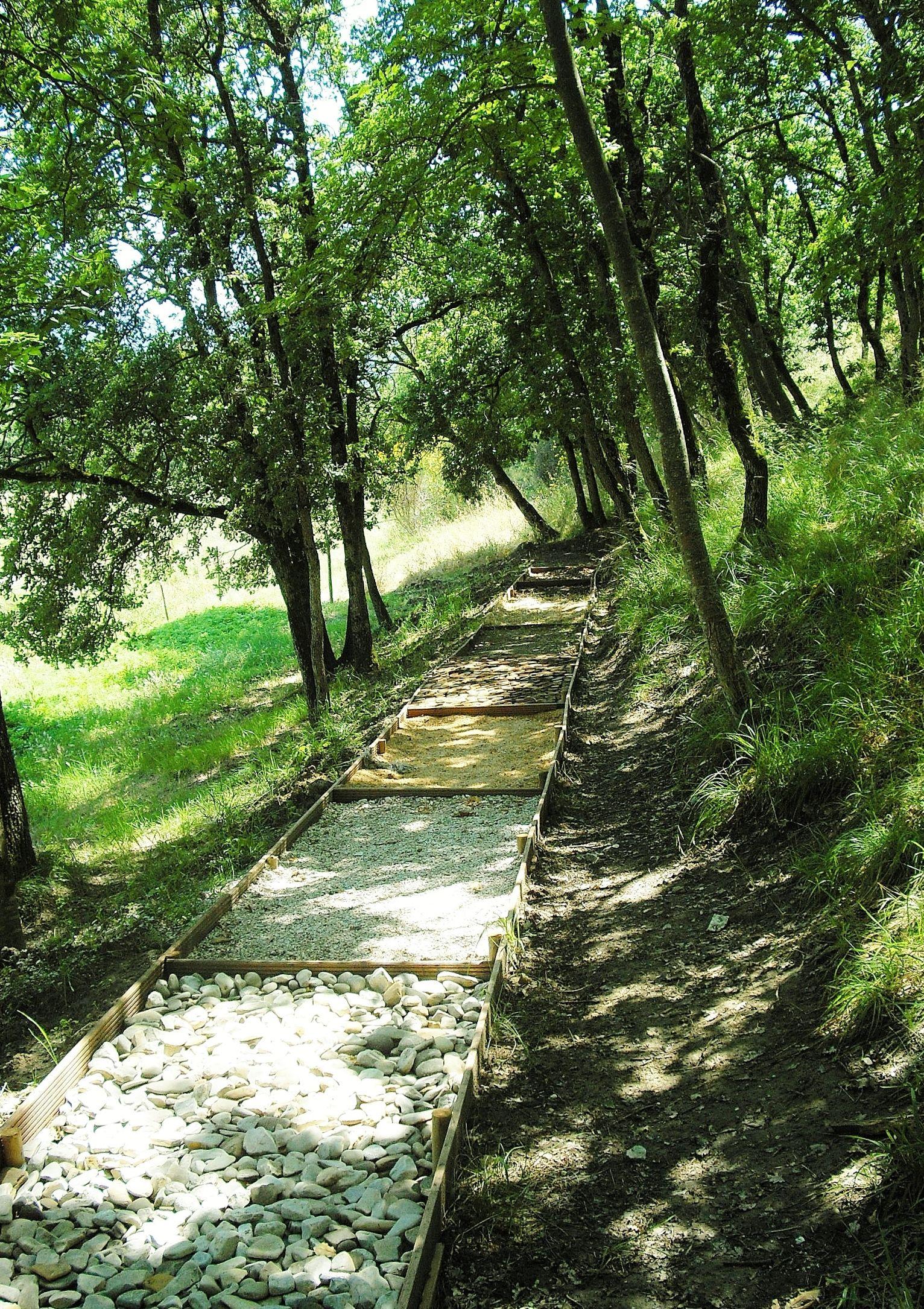 Our Barefoot Path Sensory Garden Backyard Playground Paths