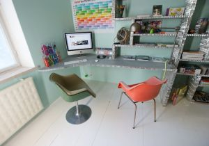 My dream home office made by WoodLabo, located Bordeaux, France ...