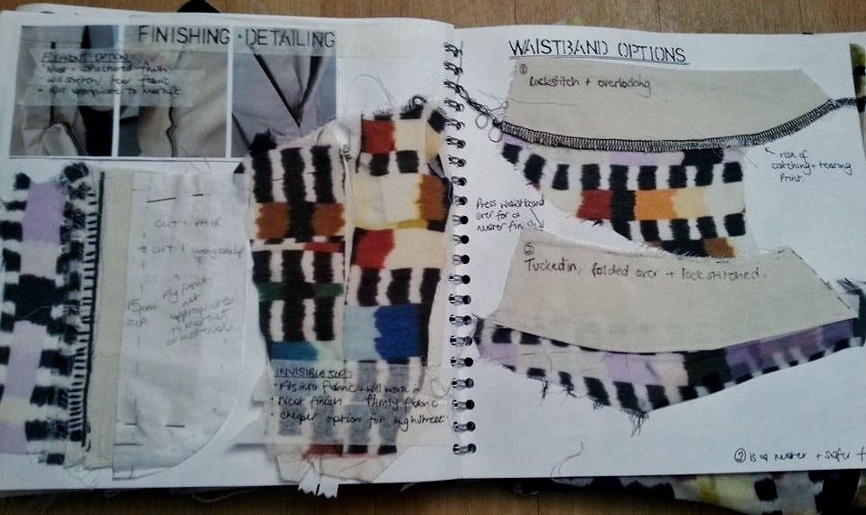 Hannah Culley First Year Fashion Degree Sketchbook