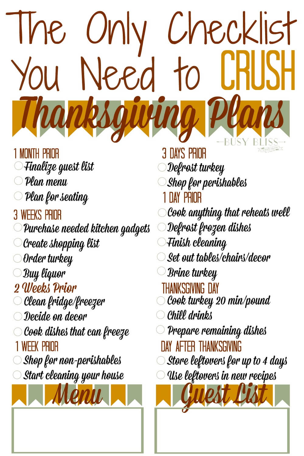 The Only Checklist You Need to Crush Thanksgiving Planning
