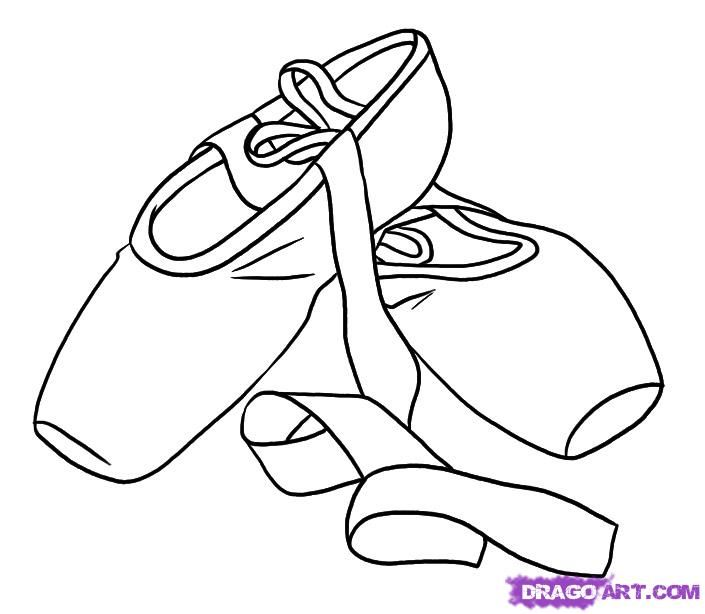 How To Draw Ballet Shoes By Dawn With Images Easy Drawings
