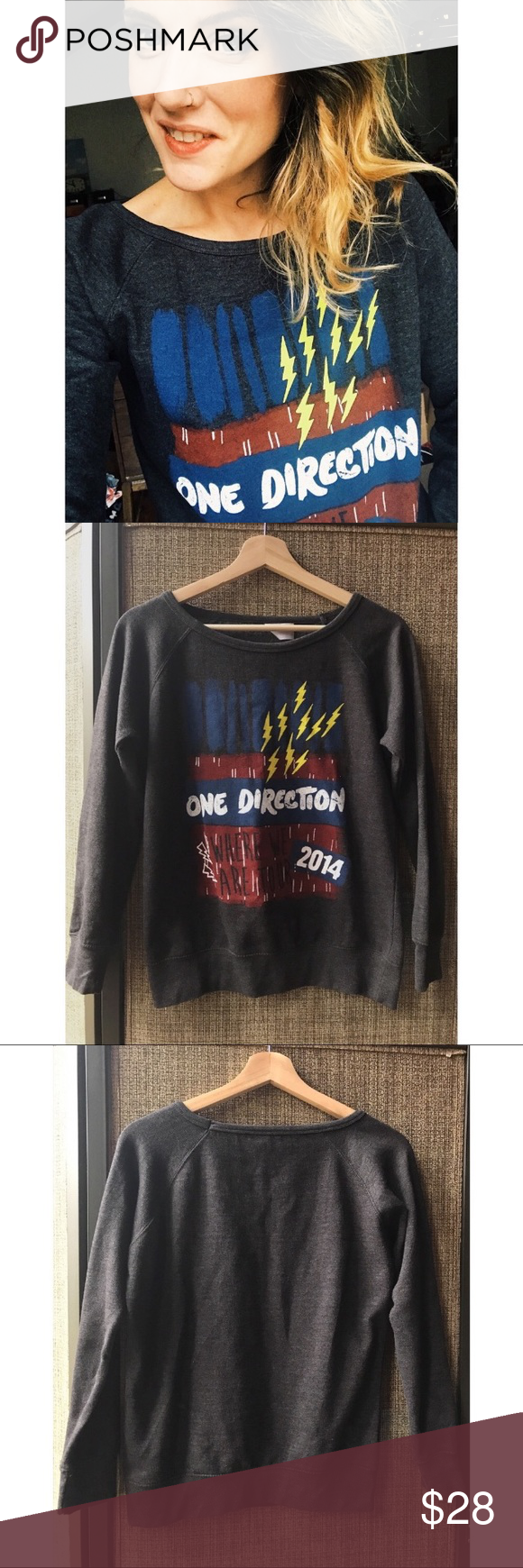 One Direction Sweatshirt One Direction Band Top Super fab and cozy One Direction sweatshirt from their 2014 tour! Size small. Pit to pit: 19 inches Length: 22 inches one direction Tops #onedirection2014 One Direction Sweatshirt One Direction Band Top Super fab and cozy One Direction sweatshirt from their 2014 tour! Size small. Pit to pit: 19 inches Length: 22 inches one direction Tops #onedirection2014 One Direction Sweatshirt One Direction Band Top Super fab and cozy One Direction sweatshirt fr #onedirection2014