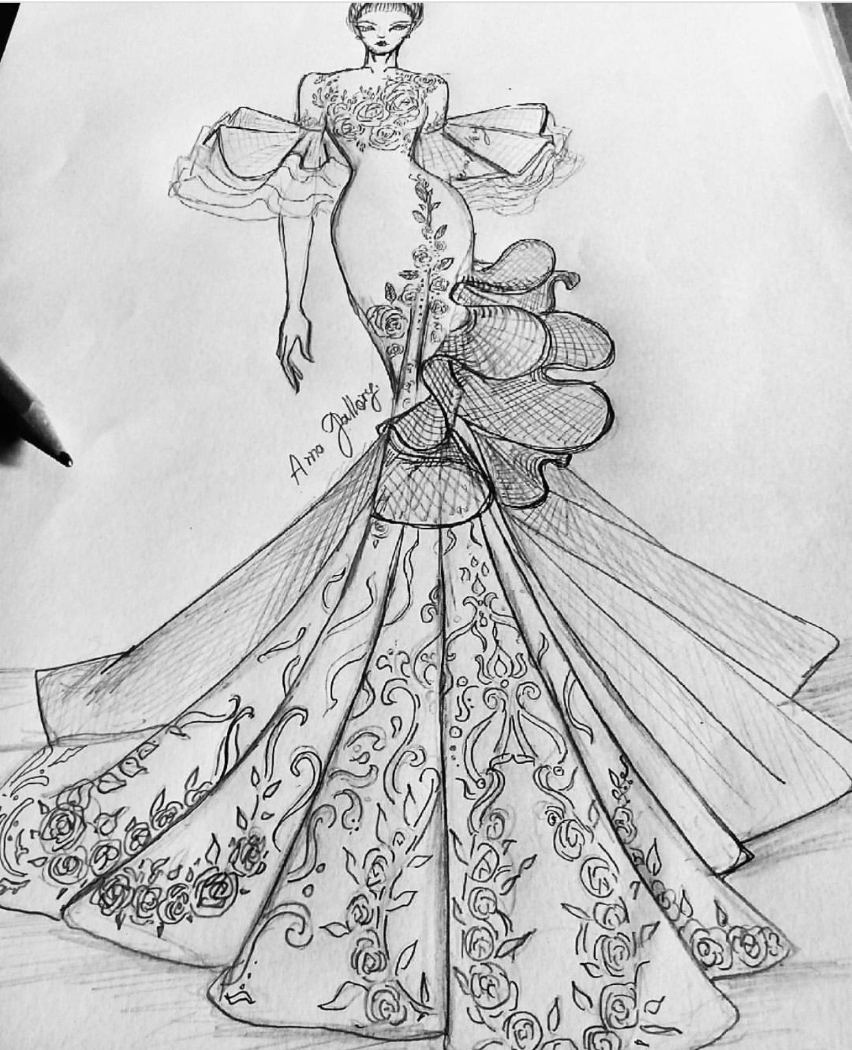 Pattern Art Pencilsketches Fashionillustrations Arno Gallery Be Inspirat Croquis Fashion Fashion Design Sketchbook Fashion Illustration Sketches Dresses