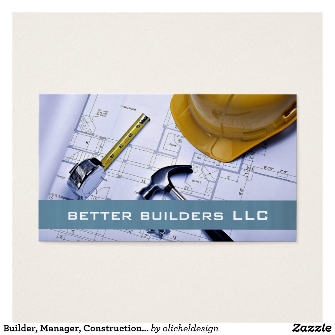 Builder manager construction business card zazzle house builder manager construction business card zazzle reheart Gallery
