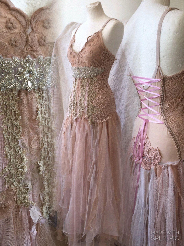 Boho wedding dress rosebridal gown rosebeach wedding dress rose