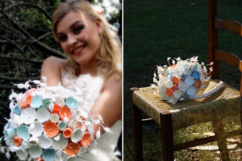 Bouquet di fiori di carta. Ecologico - Green di I fiori di Ale  su DaWanda.com