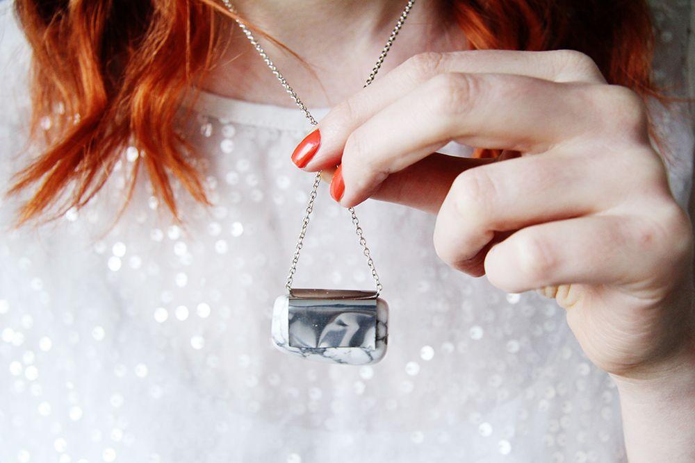 Photo of DIY Raw Semi Precious Stone & Silver Pendant Necklace   Fall For DIY