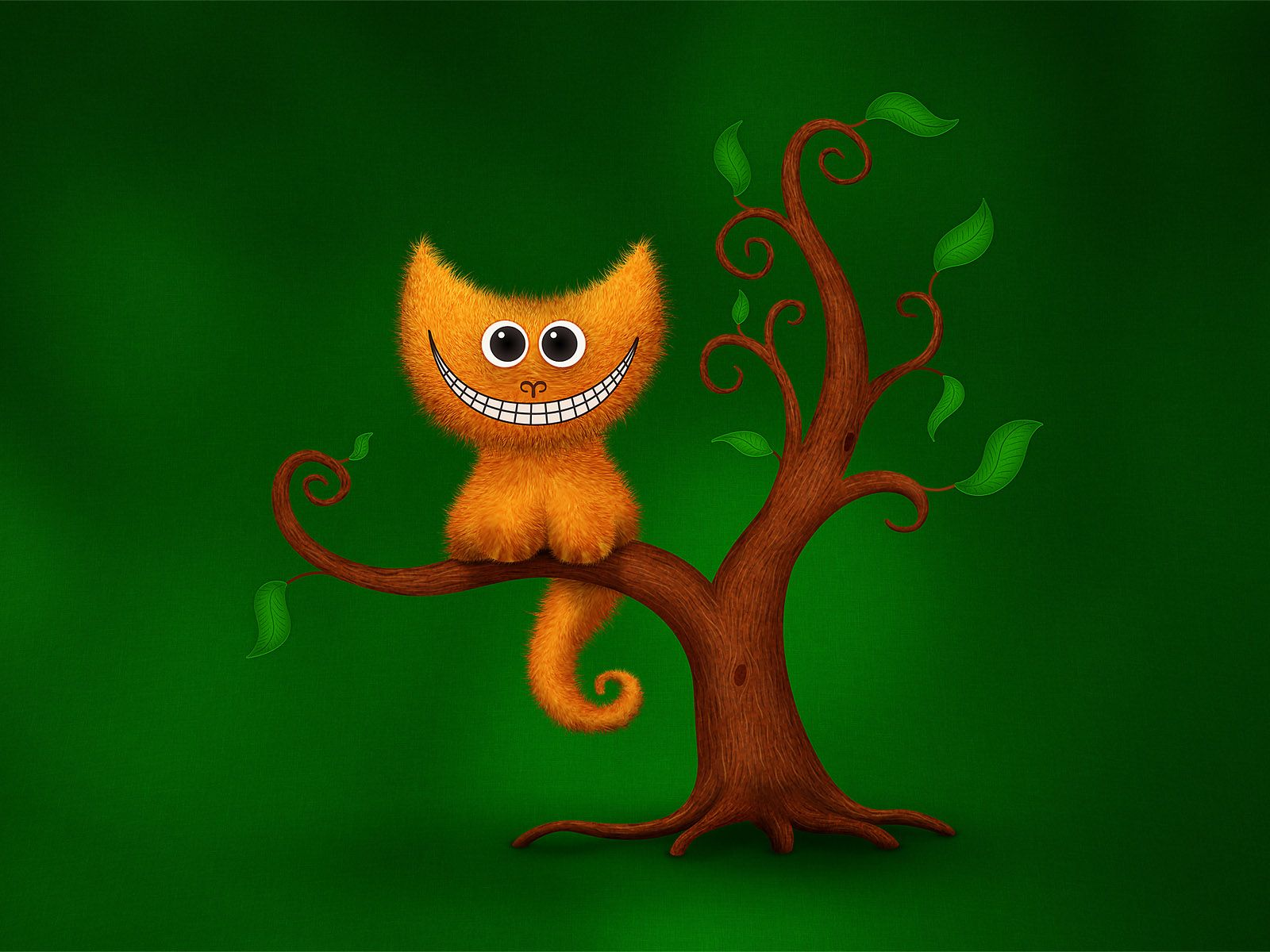 a cheshire kitten disappearing a· desktop wallpapers a· vladstudio