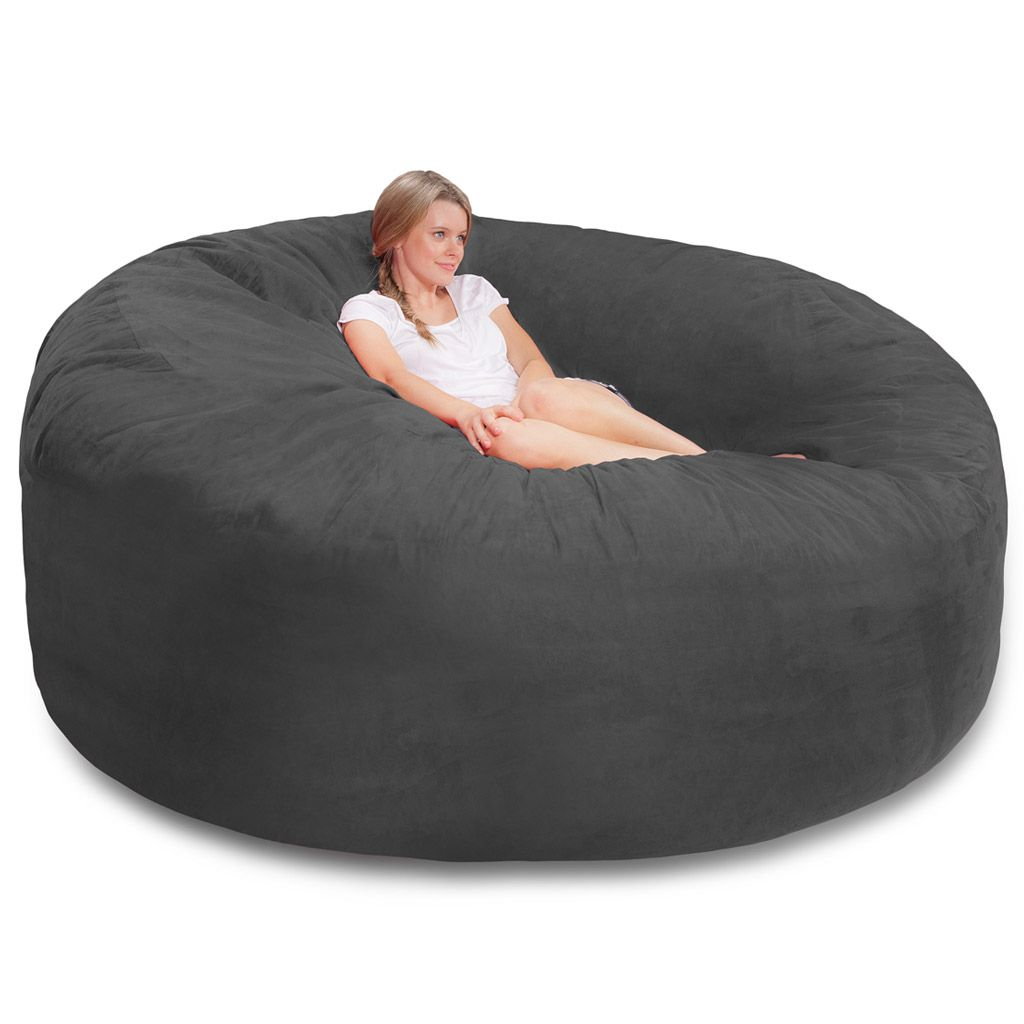 bean bag chair cost vintage wood chairs giant huge extra large