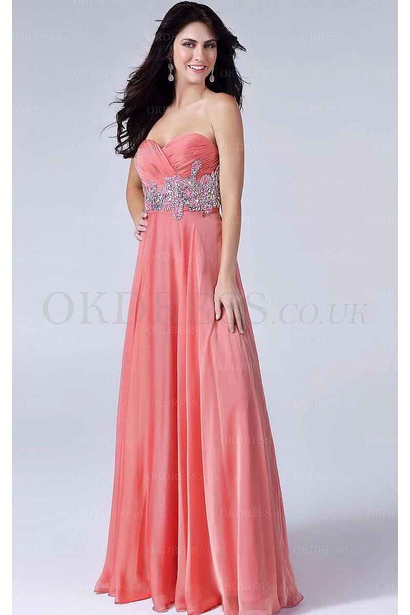 Perfect Blue Sweetheart Floor-length Chiffon Prom Dresses - by OKDress UK