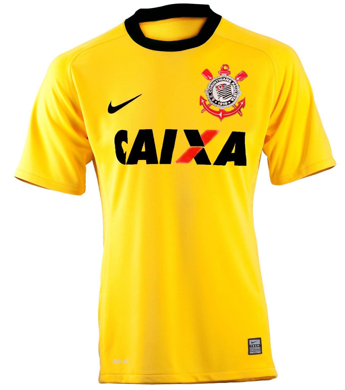 Corinthians terá terceira camisa amarela em 2014 54885475dd6aa