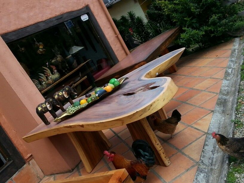 Mesa comedor tablon irregular  muebles  Muebles madera