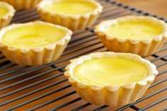 HONG KONG STYLE EGG TARTS. Makes 7 (Shortcrust Pastry ~ Creaming Method)