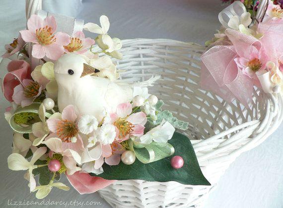 Pink dogwood blush hydrangea silk flower white dove bird nest easter pink dogwood blush hydrangea silk flower white dove bird nest easter basket on etsy 5500 mightylinksfo Image collections