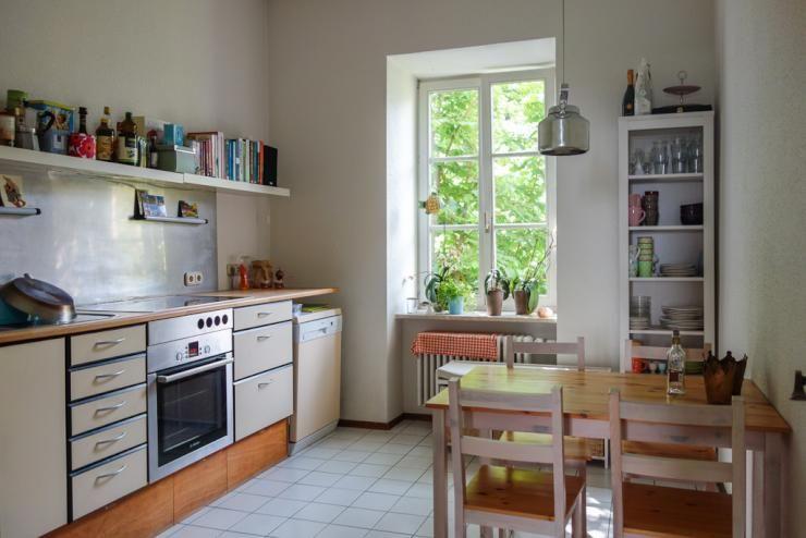 Wunderbare 2-Zimmer Altbau-Wohnung mitten im Gärtnerplatzviertel - einrichtungsideen sitzecke in der kuche