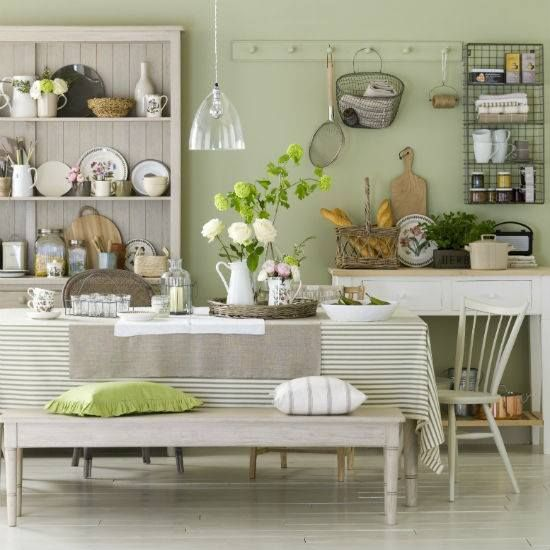 Sage Green Country Style Kitchen