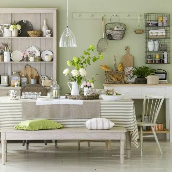 Kitchen Decor Ideas Sage Green: Sage Green Country Style Kitchen