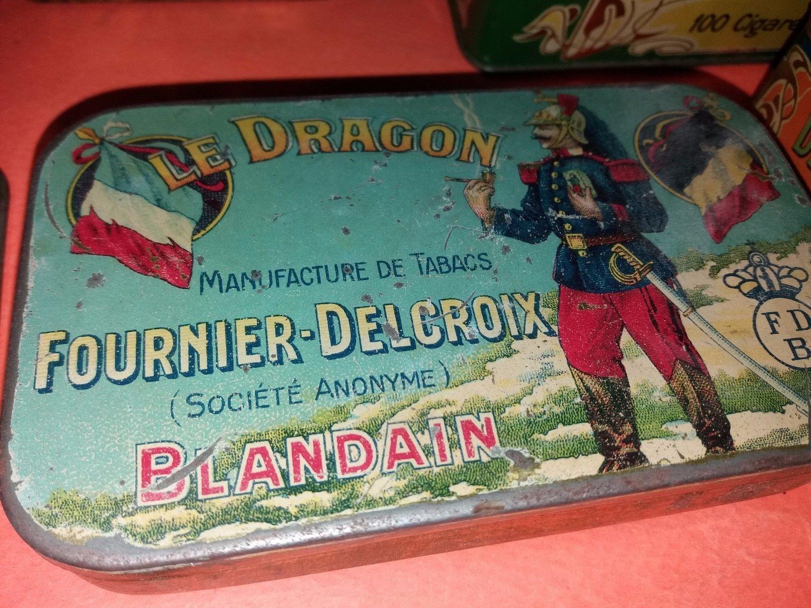 Details over Rare beautiful cigarette tin Le Dragon