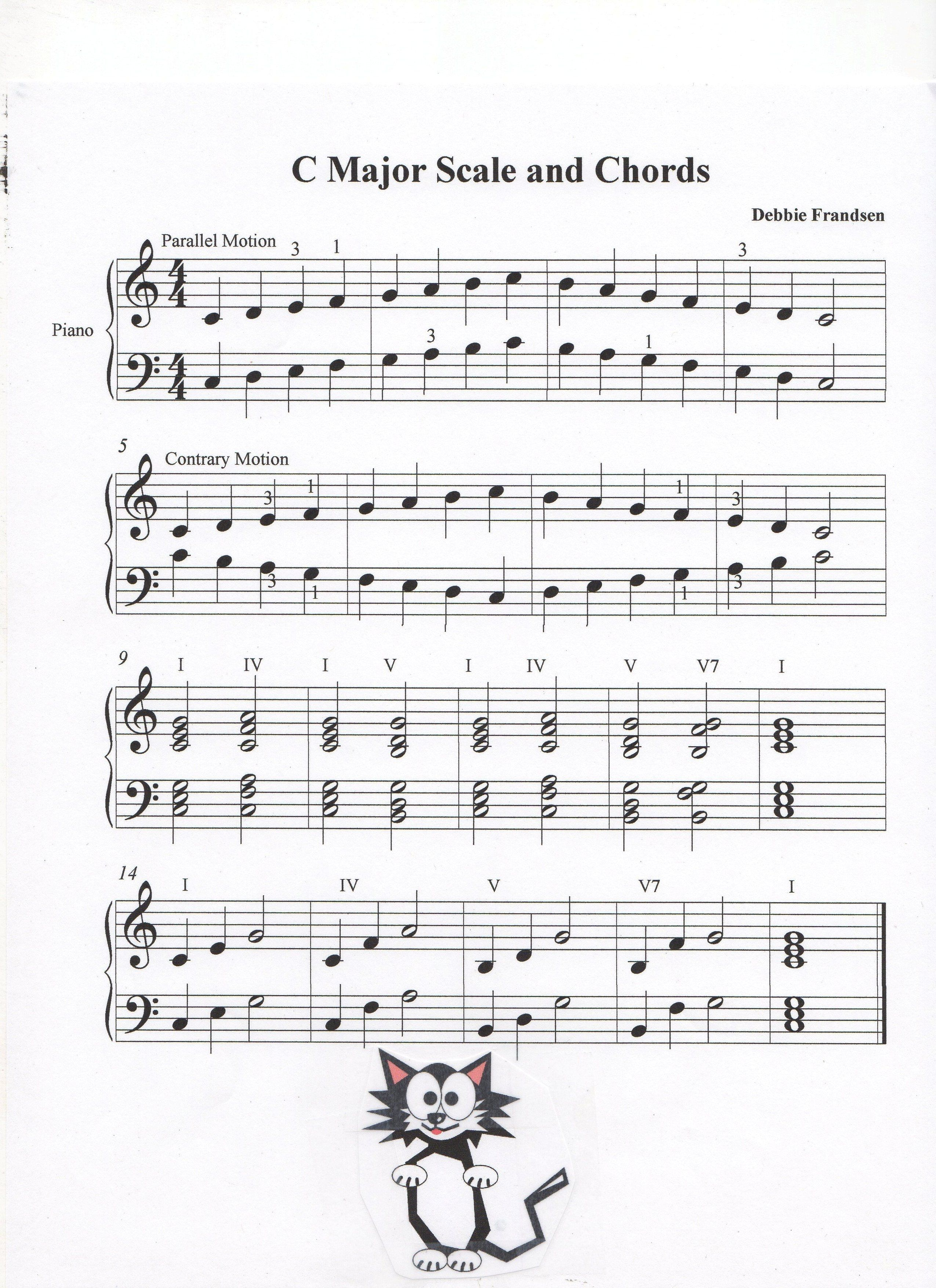 C Major Scale And Chords In 2020 Piano Sheet Music Piano Music Music Tutorials