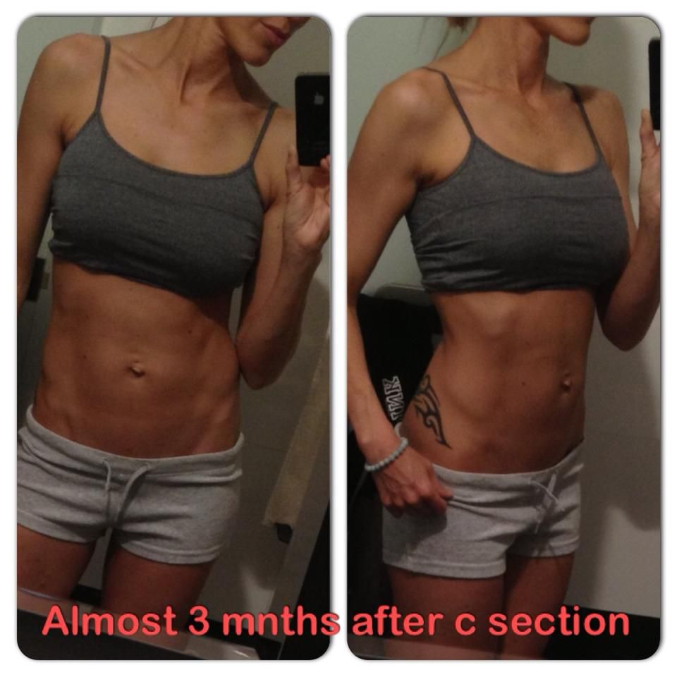 Flat abs 3 months after c-section. I used these 5 moves!   Diary of ...