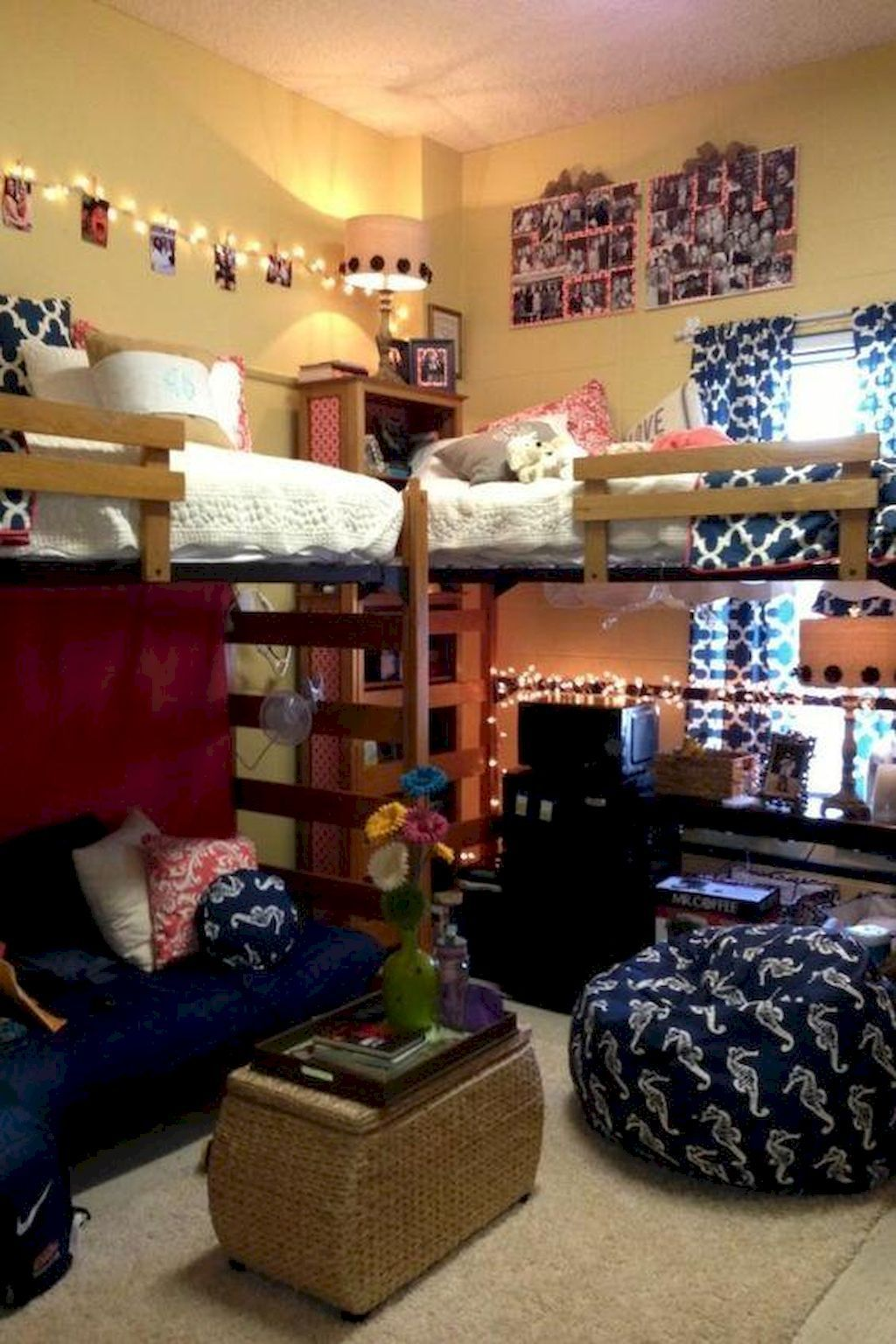 College dorm loft bed ideas   cute loft beds college dorm room design ideas for girl