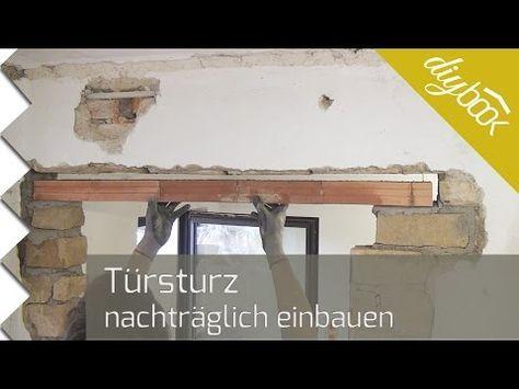 Türsturz neu einbauen Haus sanieren, Haus renovieren und
