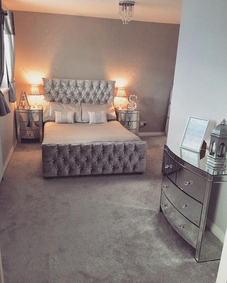The Glittery World Of Silver Bedroom Ideas: Ɗяεαм ℋσυsε♡ In 2019