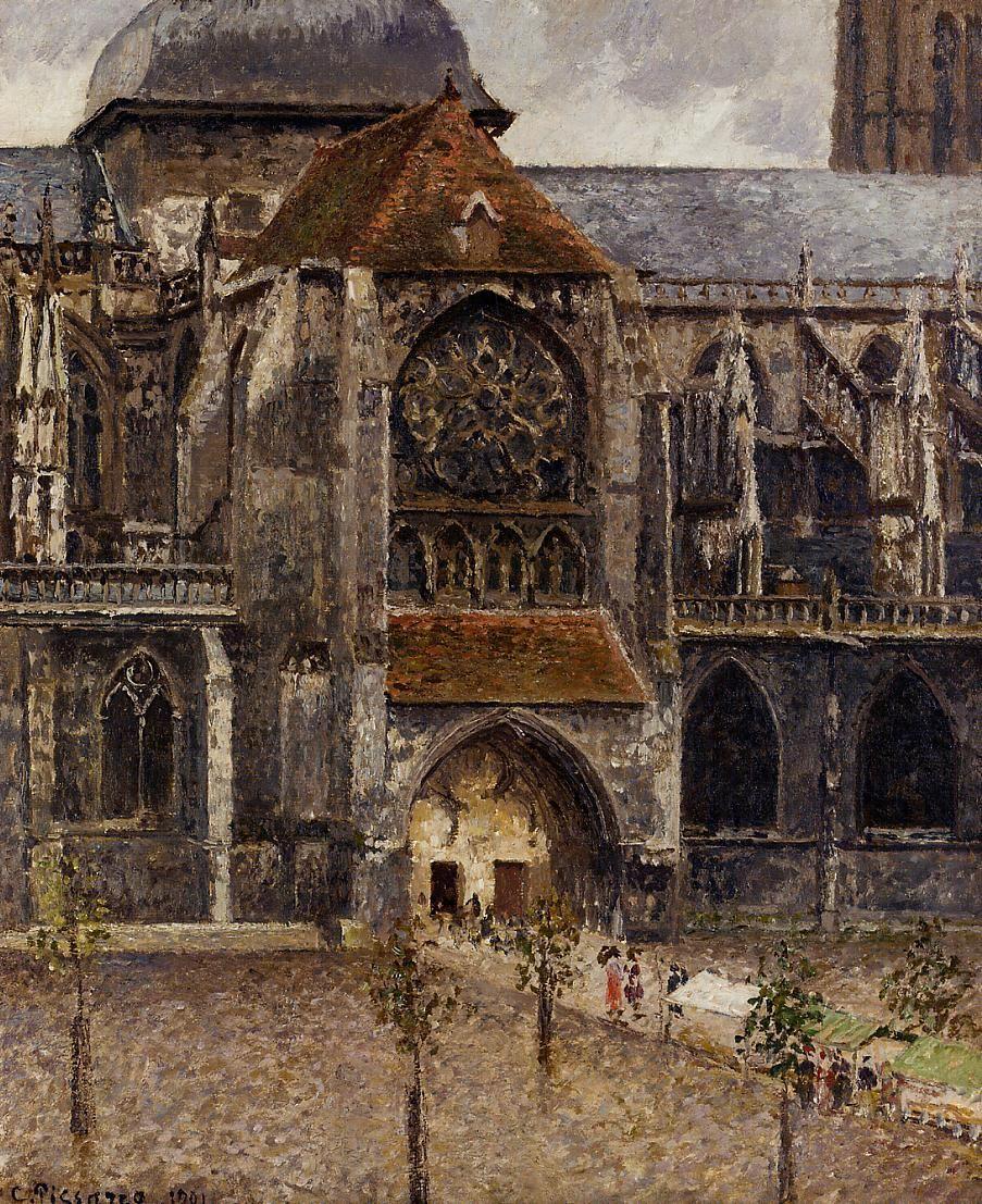 Camille Pissarro 1830 1903 Portail De L Eglise Abbatiale De