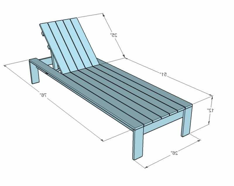 Dimensions Of Pool Lounge Chair
