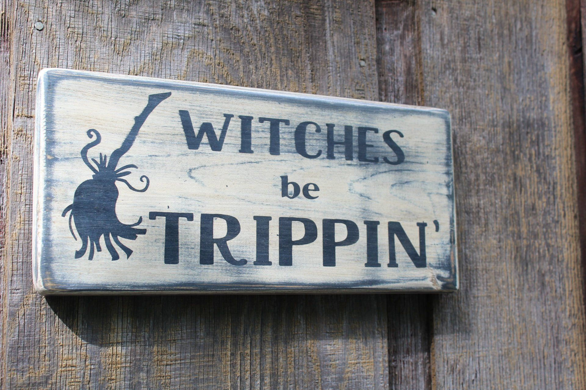 Witches Welcome Sign Wall Decor Halloween Gift Witch wicca pagan Pentagram Fun