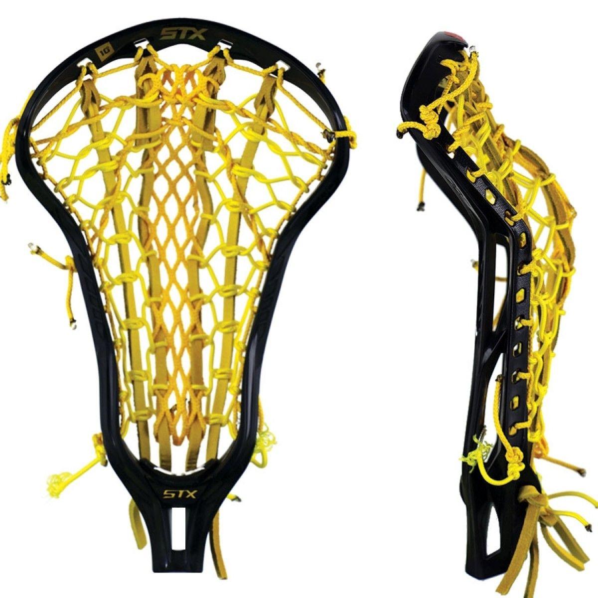 Stx Crux 600 Black W Yellow Venom Mesh Pocket Lowest Price Guaranteed Womens Lacrosse Womens Lacrosse Sticks Lacrosse Girls