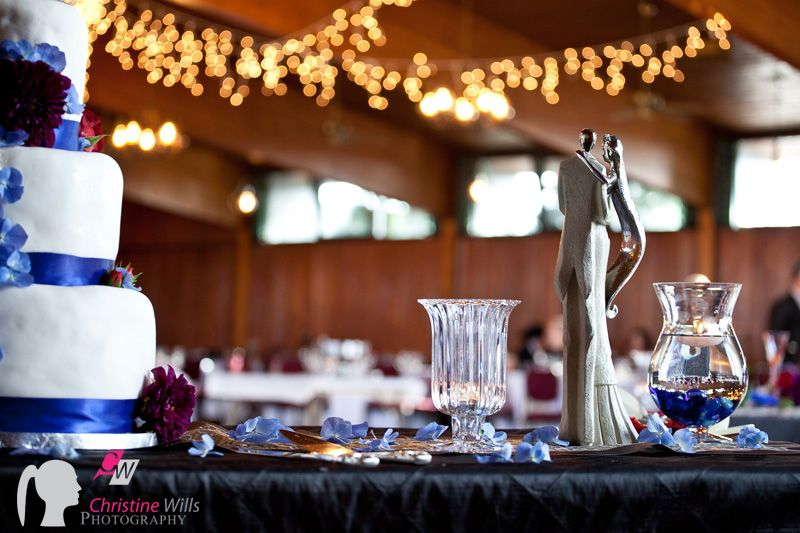 www.cwillsphotography.com   Edmonton wedding photographers, wedding details. wedding cake. red and blue. red roses