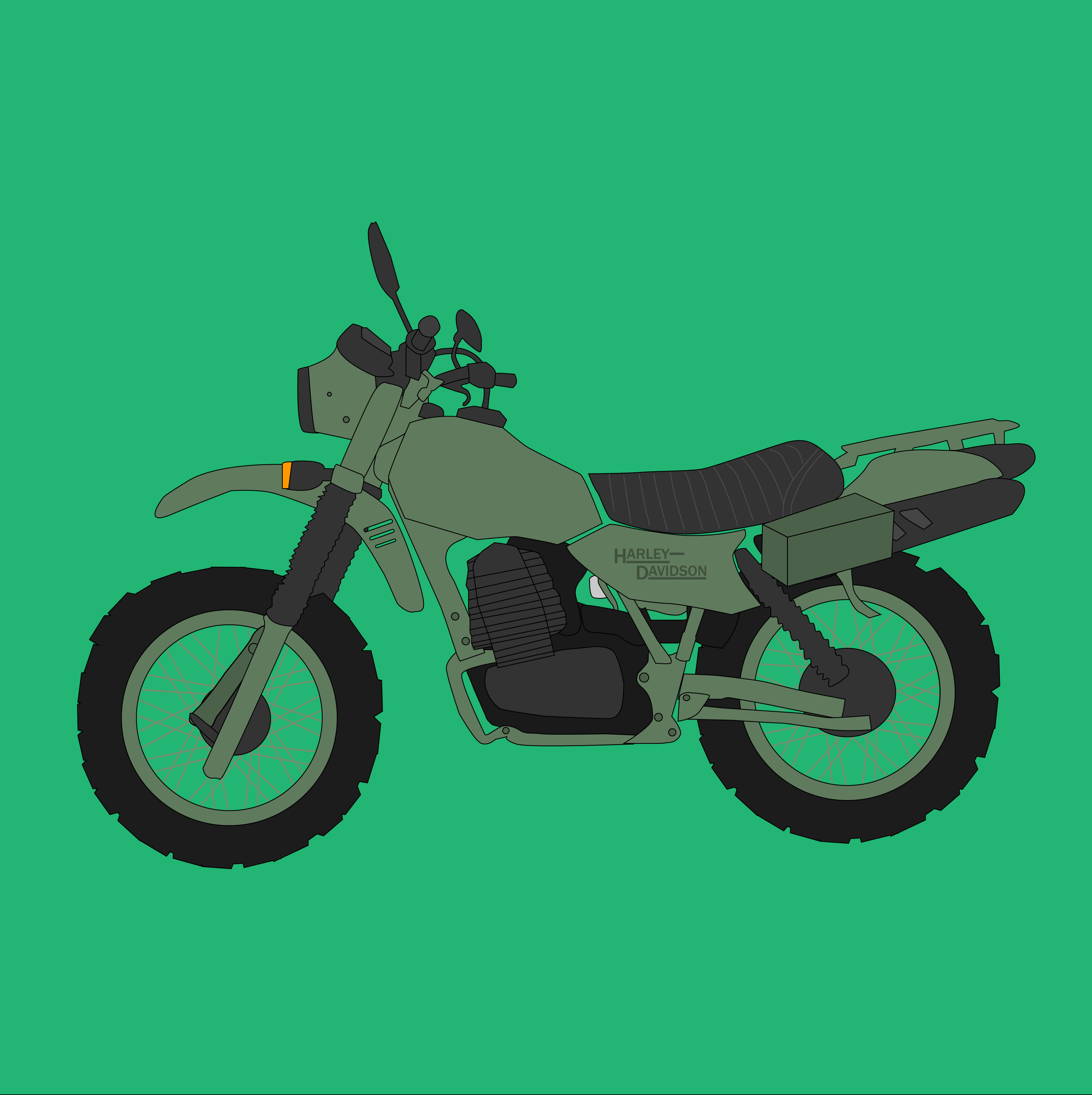 As a Christmas present for my biker father, I decided a design of ...