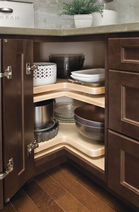 Homecrest Corner Lazy Susan Cabinet Make Use Of The Corner With A Lazy Susan Cabinet With Rota Kitchen Cabinet Door Styles Homecrest Cabinets Kitchen Cabinets