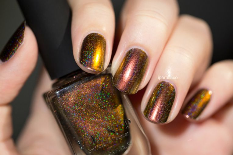 Abundance (H) - Red to Gold Holographic Ultra Chrome Nail Polish by ILNP