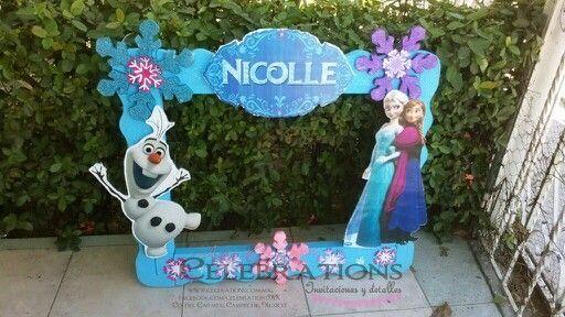 Marco Gigante Para Fotos Frozen Frozen Theme Party Frozen Birthday Party Frozen Bday Party