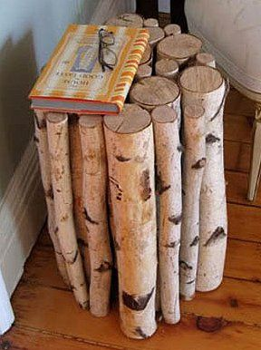 Log End Table Cut The Logs The Same Length Tie Them