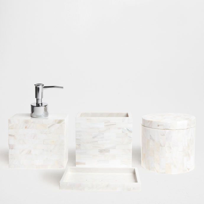 Set Of Mother Pearl Bathroom Accessories From Zarahome Whitebathroom