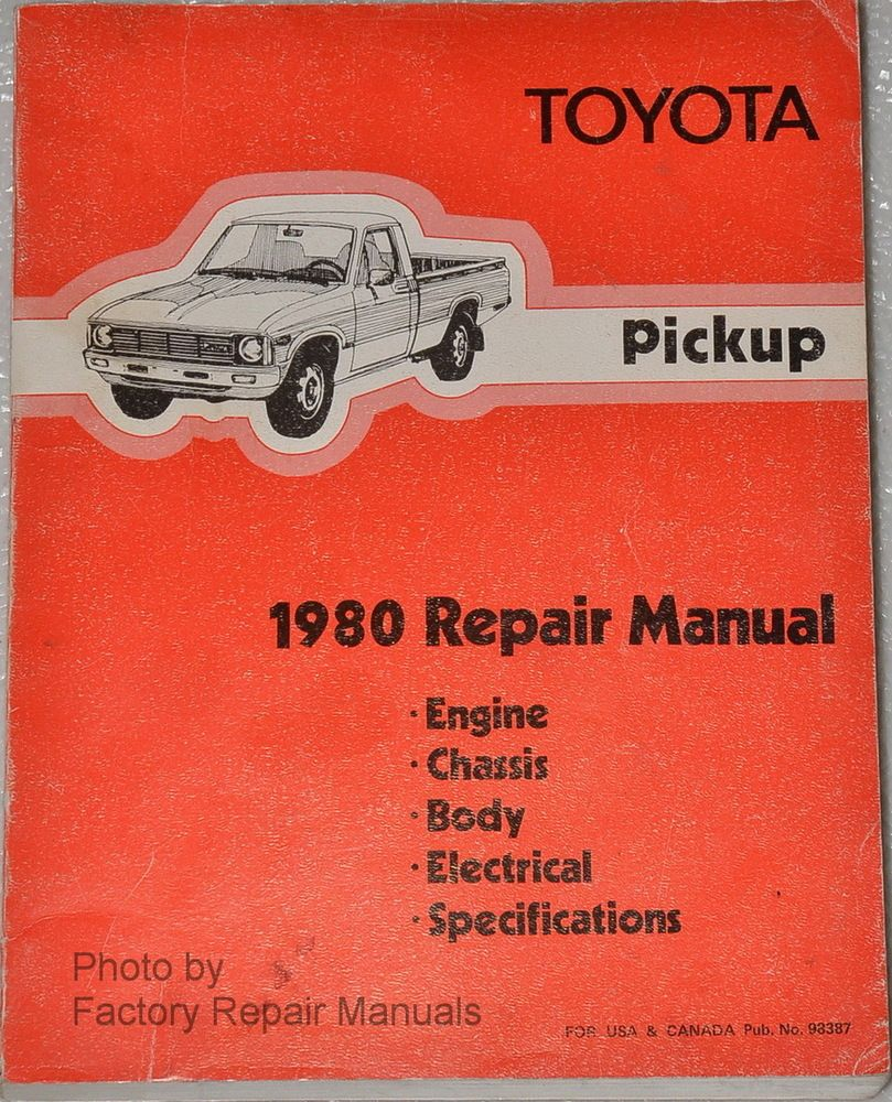 1980 Toyota Pickup Truck Factory Shop Service Repair