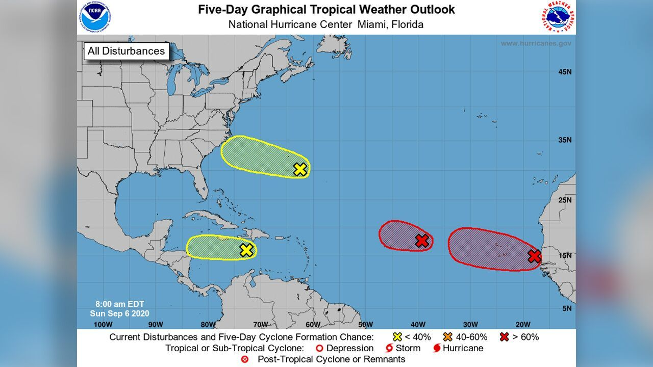 Hurricane Center Monitoring 4 Areas For Development Including 2 With High Chances In 2020 National Hurricane Center Hurricane Season Hurricanes Activities