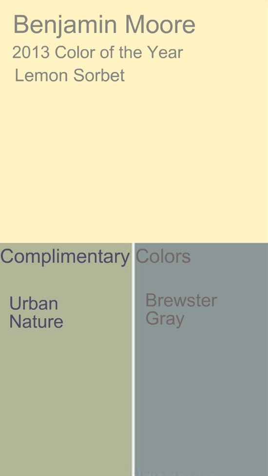 benjamin moore 2013 color trends ha very similar to all my