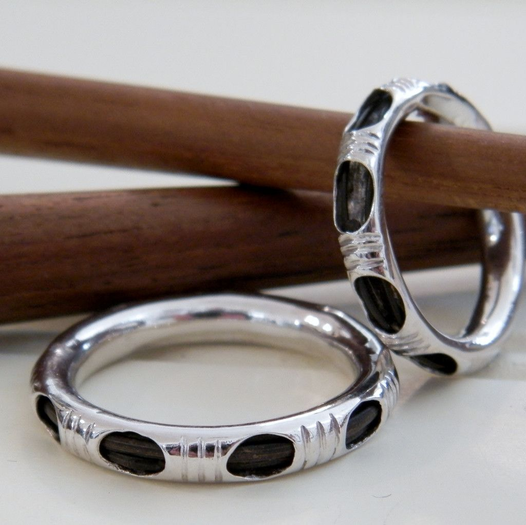 Silver With Elephant Hair Mahout Ring Mens Jewelry