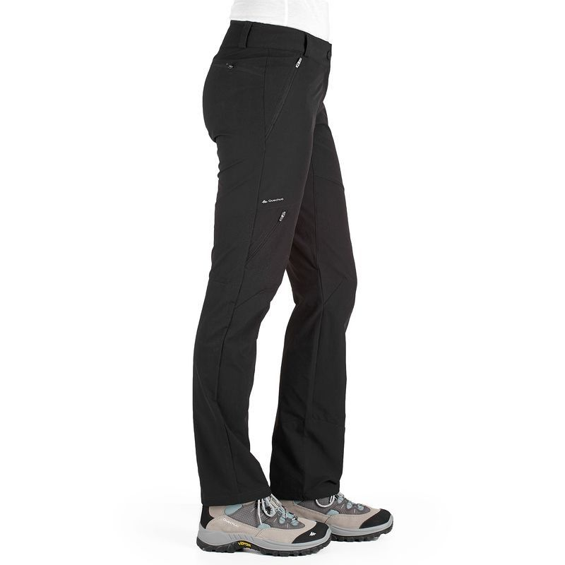 Kadin Sort Kapri Pantolon Tisort Gomlek Doga Yuruyusu Forclaz 500 Pantolon Quechua Outdoor Kiyafeti Ve Giy Sport Outfits Walking Trousers Sports Gear