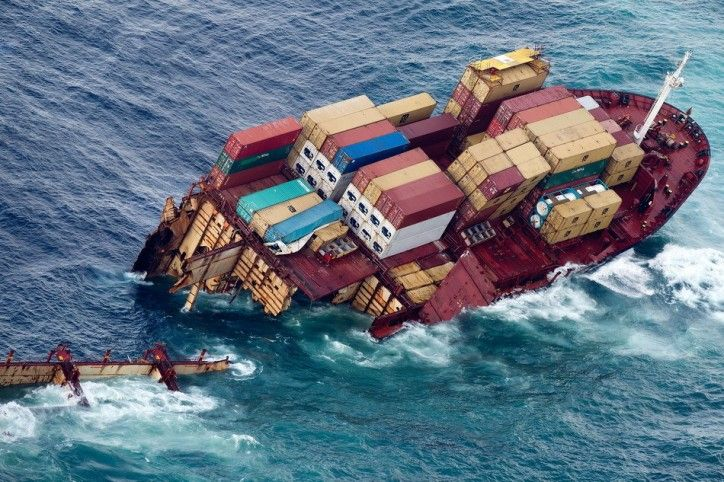 Chinese Container Ship Sinks Off Guangzhou Eight Crew Rescued Ship Breaking Water Crafts Ship