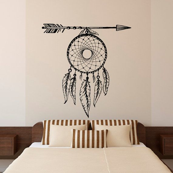 Ordinaire Dream Catcher Wall Decal Arrows Feathers Dreamcatcher Native America Hippie  Boho Bohemian Bedroom Dorm Tribal Wall Art Home Decor