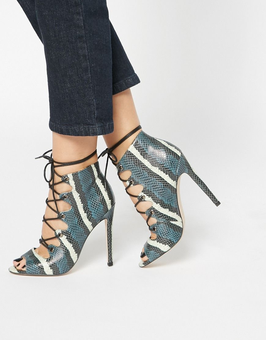 Image 1 of ASOS PIA Lace Up High Heels