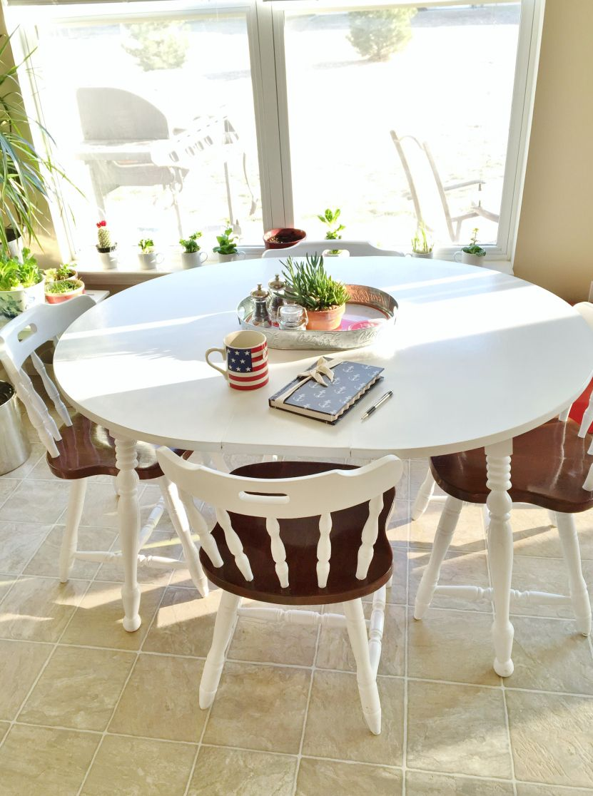Paint Laminate Table Painting Dining Redo Kitchen