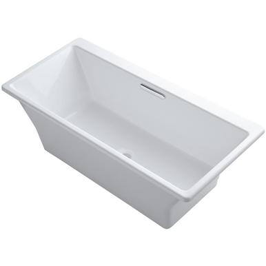 Kohler Reve 67 X 32 Freestanding Soaking Bathtub White Tub